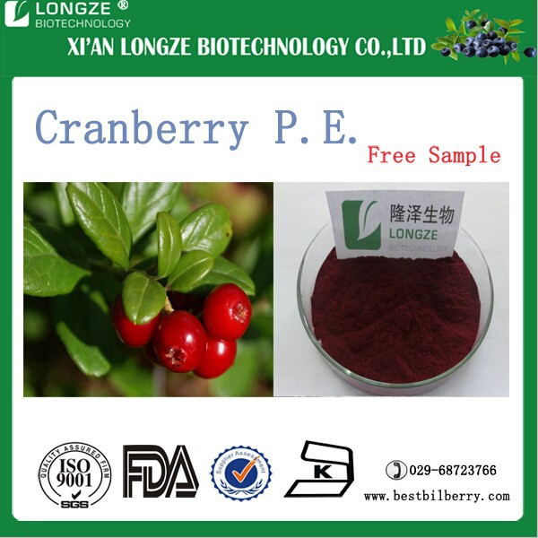 Proanthocyanidin1%~50% Dried organic cranberry Fruit concentrate powder