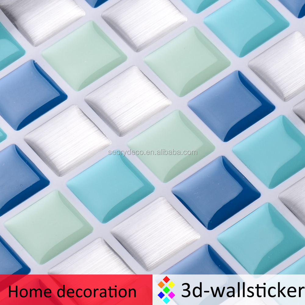 Bathroom mosaic art design the safe and eco-friendly self-adhesive vinyl wall sticker