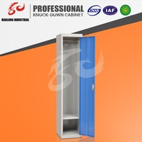 High quality gym metal 1 single door locker / custom storage clothing wardrobe locker