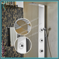Promotional New Style Hot Sales Led Light Thermostatic Faucet Stainless Steel Shower Panel