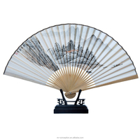 China Traditional High-quality Customized Silk Bamboo Hand Fan Drawing
