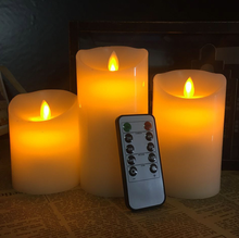 Church Remote Control Timer Dimmable Moving Flame Wick Flameless Wax Led Candle,Led Candle Light,Candle Led