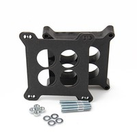 PAL CBS1006 Car Accessories Universal Black Phenolic Thermal Insulating Carburetor Spacer for Car Engine Square Bore