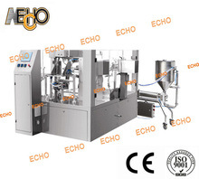 Automatic Cooking Oil Stand-up Bag Fill Seal Packing Machine