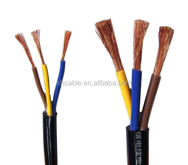 PVC insulation PVC sheath 3 core 4mm power <strong>cable</strong>