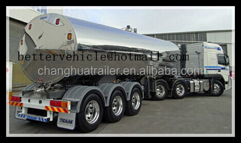 Milk Stainless Steel Tank Truck Trailer