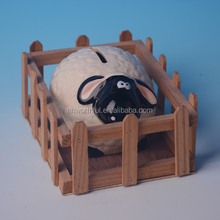 High quality ceramic sheep piggy bank,lucky sheep ceramic money box,ceramic saving money bank