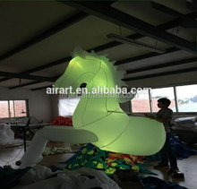 Hot with led lighting new advertising inflatable horse/OEM inflatable cartoon for sale