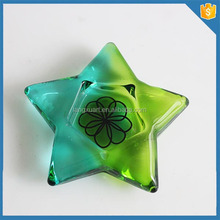 green five-star bulk glass star candle holders