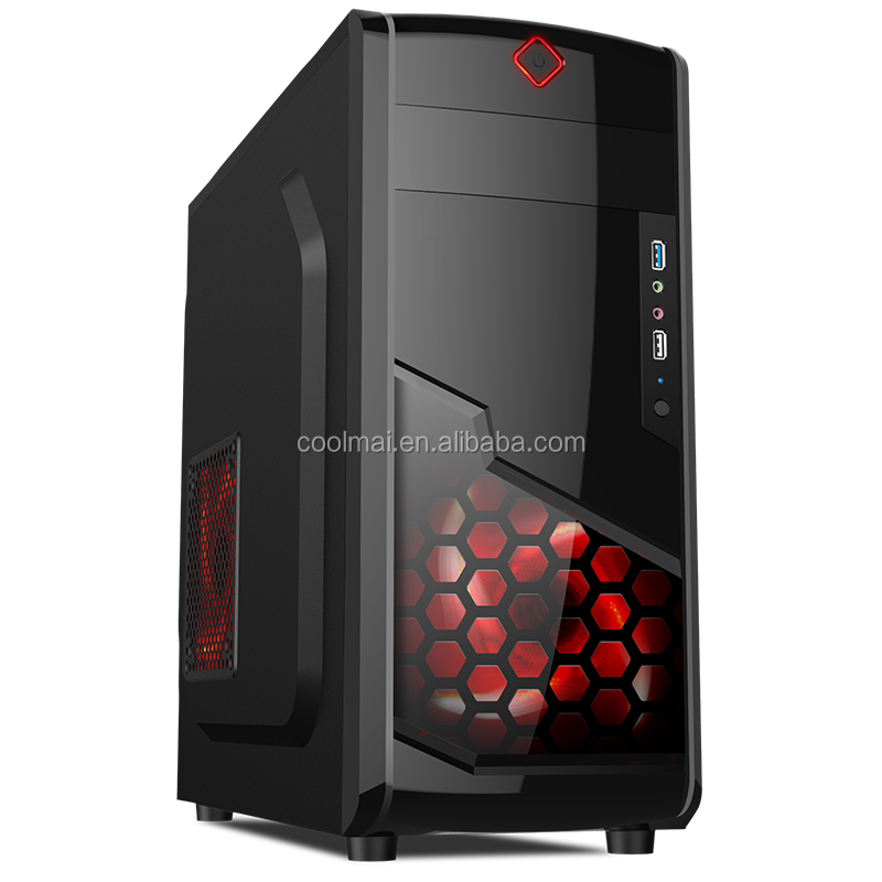 computer case with lcd temperature display/With led Fan -X2