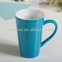 Bright colorful ceramic mug
