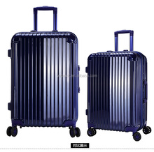New Arrival Hot Travel Cabin Size Carry Unisex Trolley 3 pcs Luggage Travel Set Bag Aluminium Frame ABS+PC Wheeled Suitcase