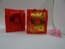 Factory directly !Promotional Customized lovely red paper box with gold stamp