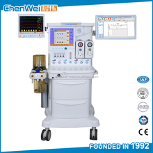 CE approved surgical instruments electronic gas mixer featured anesthesia workstation price CWM-303