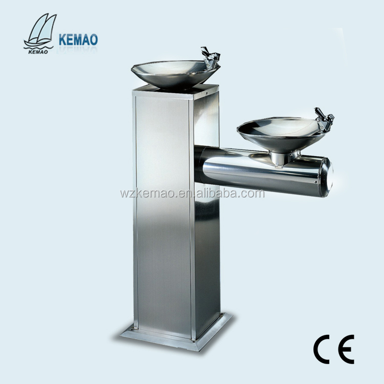 Double basin drinking water fountain/water cooler