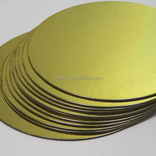 laminated gold cardboard golden cake board