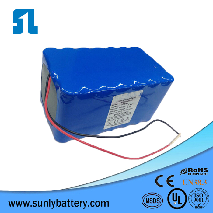 Rechargeable li ion battery 12v 12ah battery pack 3s6p for home appliances