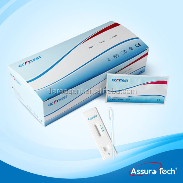 One step Typhoid IgG IgM rapid diagnostic test card
