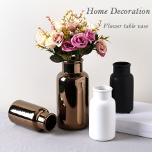 High Quality copper color ceramic flower vase for home decor