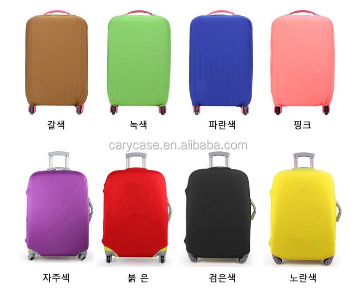 OEM Any logo accept high elasticity spandex protective luggage cover