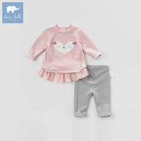 DB7376 dave bella spring baby girls clothing sets kids suit children toddler outfits high quality clothes