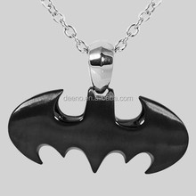 Trending Hot Products Black Plated Batman Pendant Necklace