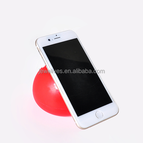 2015 idea goods ball shaped silicone mobile phone stand