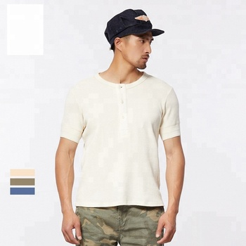 Fashion short sleeves tops blank mens knitted tshirt
