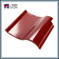Hot sell Spanish ceramic glazed roof tiles roses tiles red clay tiles thatched roof