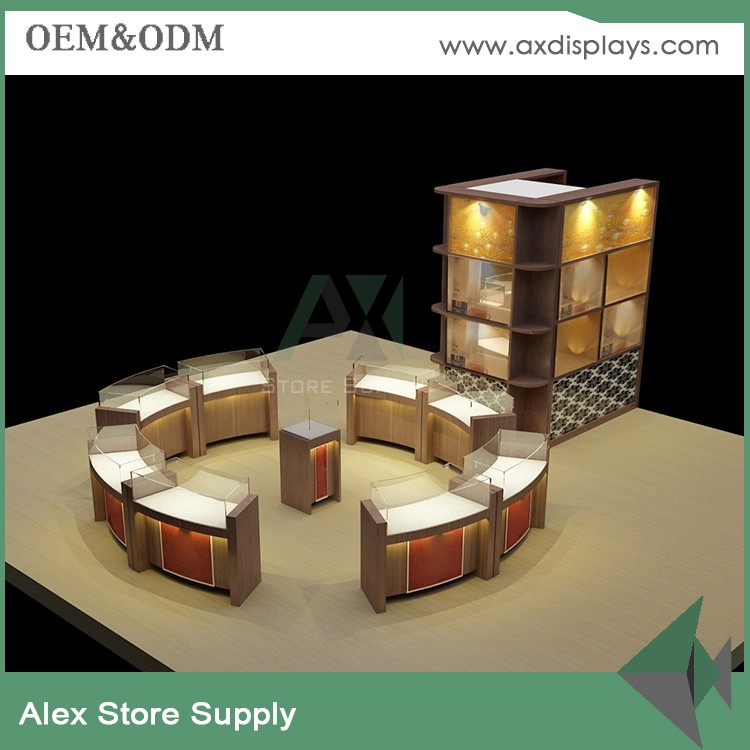 hot sale metal glass jewellery shop kiosk&display table for jewelry store