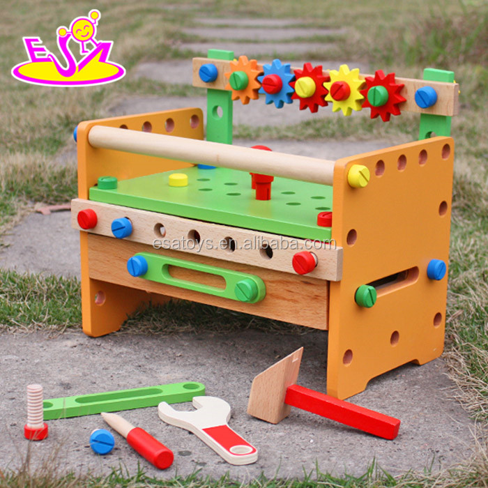 New Fashion DIY Educational Tool Toys,Colorful wooden tool box toy for kids,Hot sale wooden tool toy for children W03D055