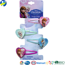 FJ brand colorful printing BB clip custom kids hair accessories printing infant frozen hair clip