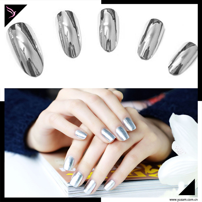Colorful mirror nail enamel cheap wholesale chrome mirror nail polish