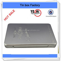 Hot sale rectangle metal music tin box with hinge in Thailand