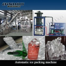 Focusun 20ton new design Africa tube ice machine with automatic ice bagging machine