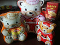 Cute bear shapes tin box for chocolate,candy,cookies