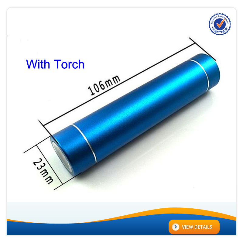 AWC191 2200mAh Aluminum Alloy Led Charger Light 1800mah Battery Mobile Phones li ion battery charger