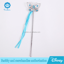 Top Quality Plastic Princess Butterfly Fairy Wand Crystal Jewelry Girls Magic Wand