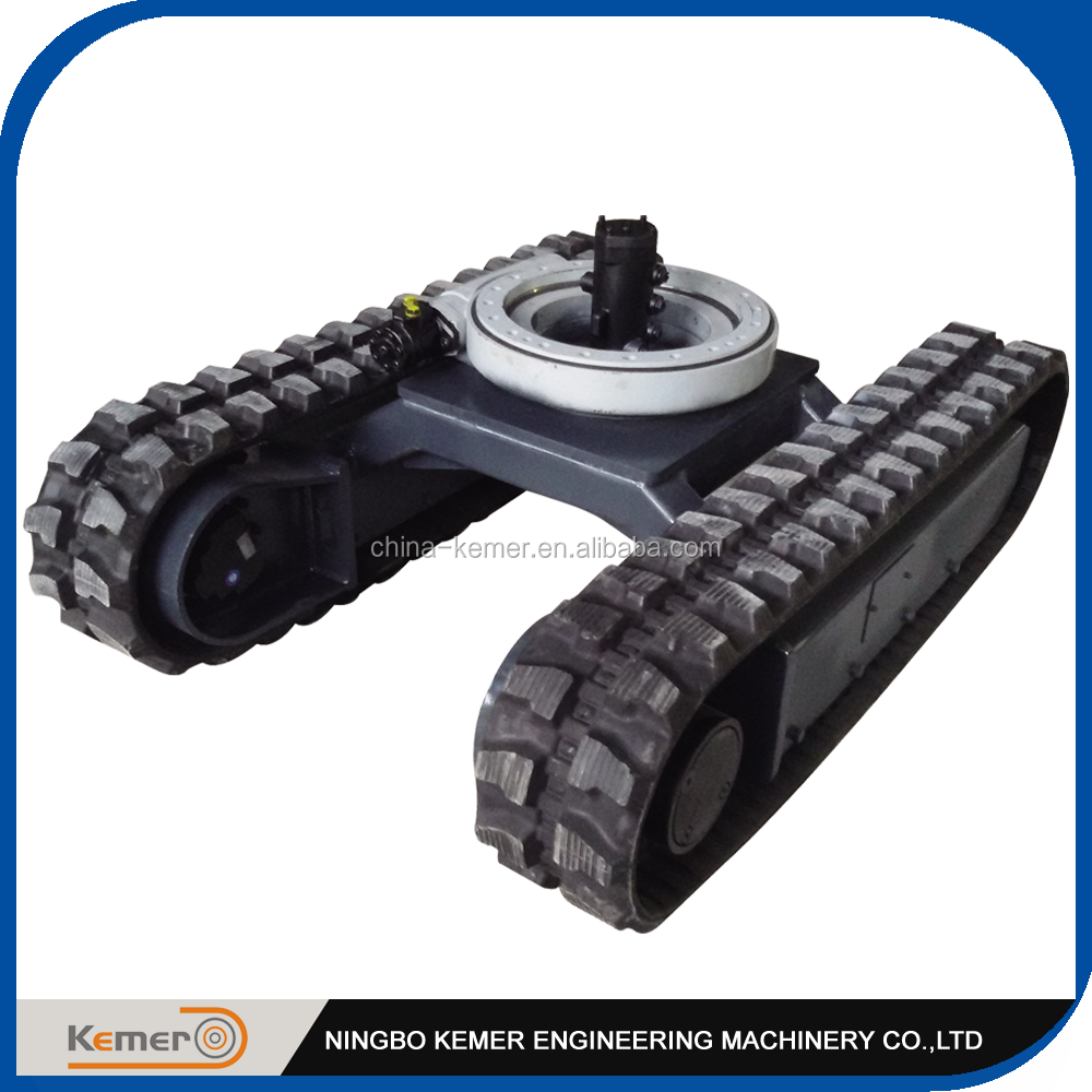 Rubber Track Undercarriage with Rotary Bearing