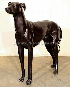 Customized animal dog fiberglass life size greyhound statue for outdoor decoration