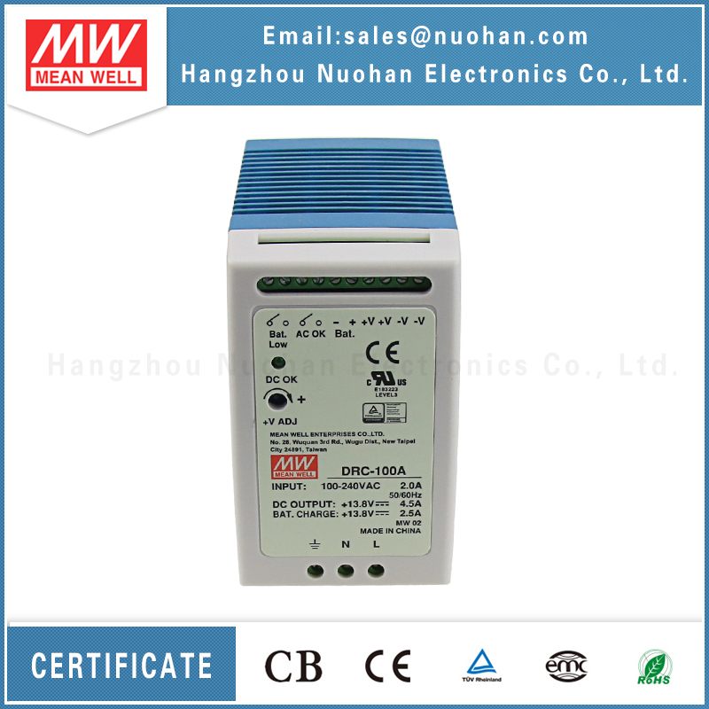 Meanwell drc-100a 100w 13.8v din rail uninterruptible power supply