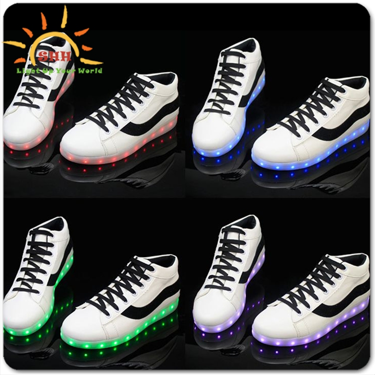 new style men kids sport led shoes sneakers free sample for boys girls, high quality children led light shoes sport with usb