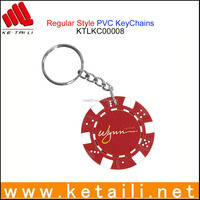 Promotional gift cheap popular custom silicone pvc keychain