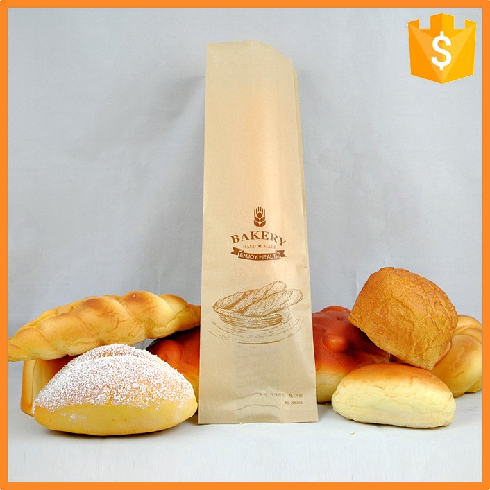 New style factory price custom bakery paper bag of bakery package bags