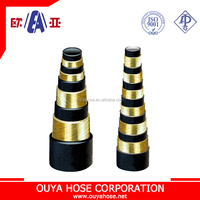 High pressure steel wire spiraled rubber hose oil pipe