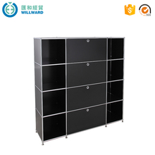 Four drawer steel filing cabinet rack, black office equipments drawing storage cabinet