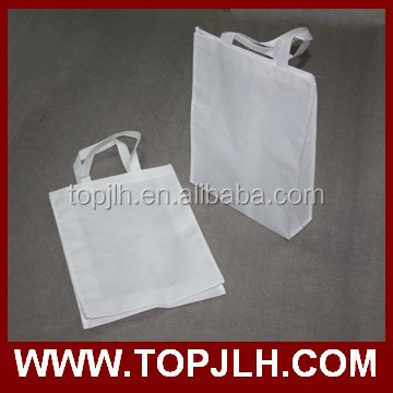 sublimation white blank non woven tote bag for printing China