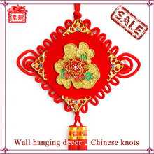 Hot Sale Traditional Handicraft Red chinese knot with colorful flower WL6093