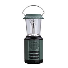 Outdoor Solar Powered Rechargeable Lamp Portable LED Camping Lantern With Emergency Radio