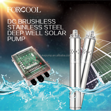 500W dc stainless steel multifunctional solar deep well water pump with 3 years warranty